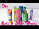 DIY Miniature Bath Body Works Lotion Perfume Body Wash Doll Bath Toiletries