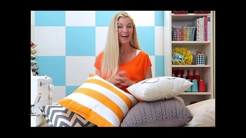 How to sew a Pillow 2 ways Basic Pillow and Pillow Sham