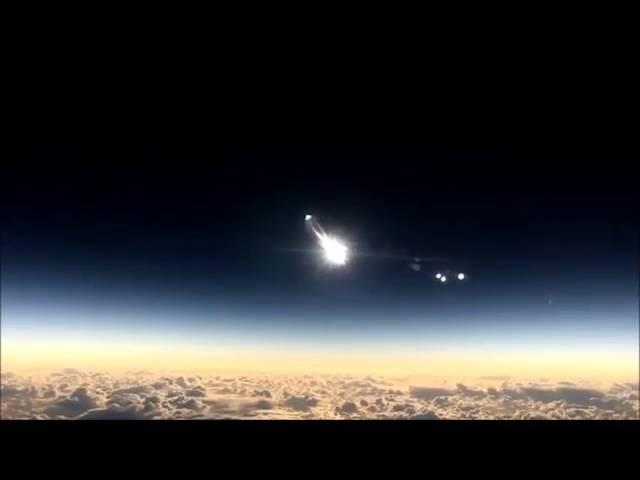 Замена лампочки Солнца, снято на камеру с самолета.