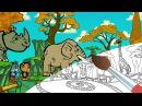 ☄Хвосты - Зоопарк🙉 - Три котенка - 🎨Мультик Раскраска.Учим цвета