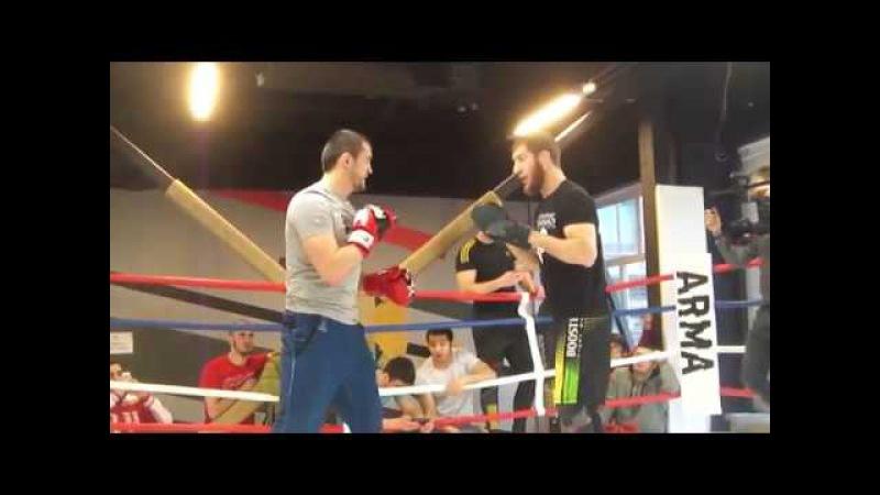 Тренировка Туменова и Абдулвахабова