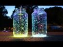 Светящиеся неоновые баночки для новогоднего декора своими руками/Сама Я mk