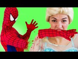 Disney Princess Pool Party vs Deadpool Frozen Elsa and Spiderman Princess Anna & Hulk Batman