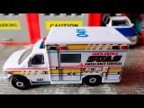 Carros de emergencias - Ambulancia & Coche de policía. Carros de carreras - Carritos Para Niños