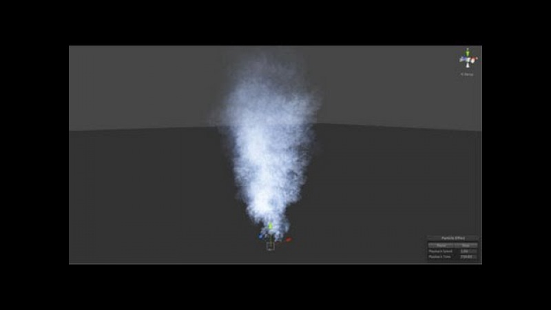 Creating Smoke with Shuriken Particle System in Unity