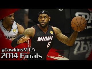 LeBron James Full Highlights 2014 Finals Game 2 at Spurs - 35 Pts, 10 Rebs, BEAST!