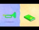Синий трактор. Детская песенка, развивающий мультик про машинки и животных.