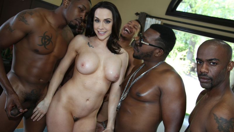 Chanel Preston ( Chanel Prestons Third Appearance) 2017, Gonzo, Interracial, Gangbang, Anal, Double