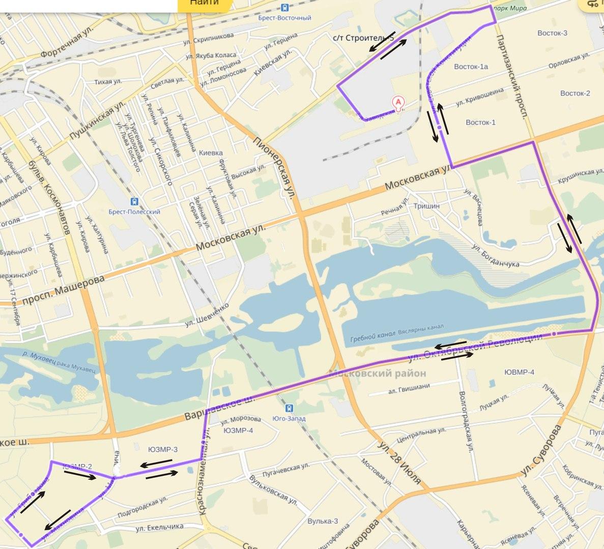 В Бресте изменяются маршруты следования автобусов и вводятся новые