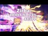 osu! | -Zirba- | KANA-BOON - Silhouette (Kage) | HDDT 97.33% 483pp