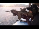 SCAR Heavy 308 battle rifle standing off hand shot by woman