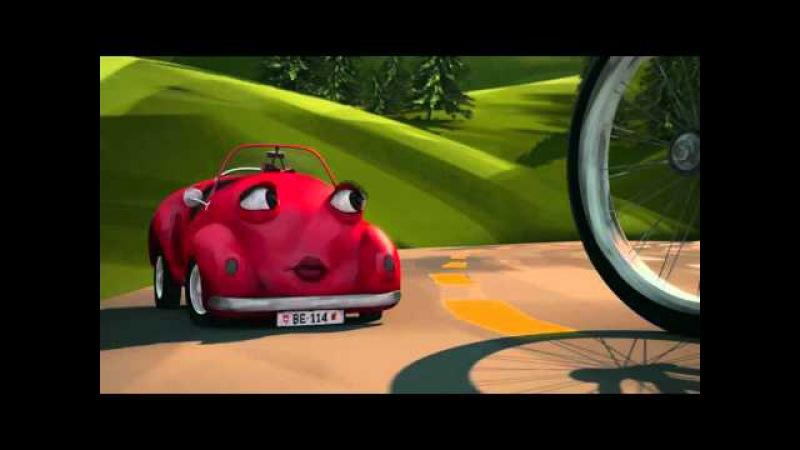 Cruiser et Bella - Le film - Vélo et auto dans les giratoires - La voie du milieu – Suva – SuvaLiv