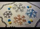 DIY Снежинки из клея Интересная идея Мастер класс