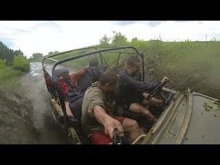 УАЗ. Машина без крыши.КАБРИОЛЕТ (off-road 4x4, Slow motion) танки грязи не боятся