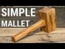 HowTo9 Make a Mallet From Single Board Как сделать киянку из одной доски