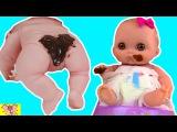 Куклы Пупсики тренируются ходить на ГОРШОК пупс обкакался мультик с куклами игры для девочек