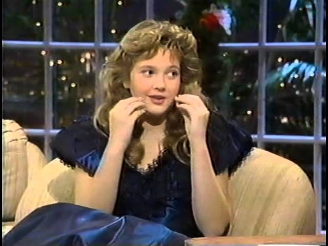 SWEET DREW BARRYMORE (ALMOST 12 YRS OLD) ON JOAN RIVERS SHOW, LATE 1986 OR EARLY 1987 (472)