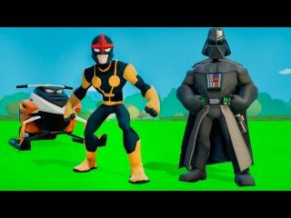 Мультик игра для детей Дарт Вейдер и супергерой Нова вместе с ТАЧКИ машинки ДИСНЕЙ Disney Cars