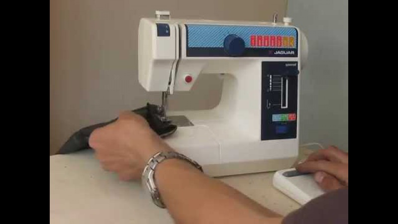 Mini Jaguar 281 Nähmaschine Sewing machine Швейная машина japan test шифон, джинс, кожа