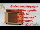 Видео инструкция по сборке тумбы под ТВ Америка Компанит