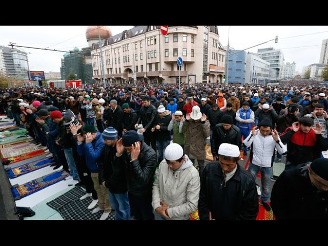 MASYALLAH Sholat Idul Adha di Moskow Rusia