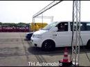 TH2 VW T5 mit Porsche Motor gegen VW Polo beim 1 4 Meile Rennen Race@Airport in Werneuchen 2009
