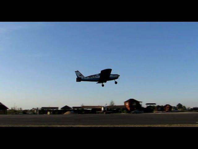 Взлёт EW-387LL с аэродрома в Косичах