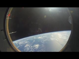 Вид в иллюминатора из спускаемого аппарата