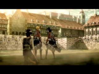 Shingeki no Kyojin / Вторжение титанов 1 сезон - 10 серия [TrinaD; Cuba77]