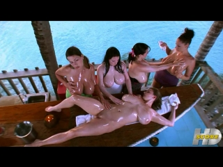 Angela White, Christy Marks, Gianna Michaels, Lorna Morgan, and Terry Nova - Big Boob Paradise