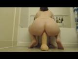 Incredible anal dildo riding milf