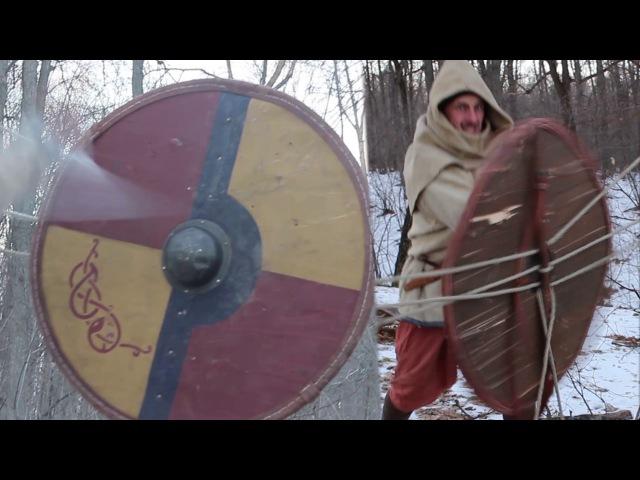 Испытание щита на прочность \ Test the shield for durability