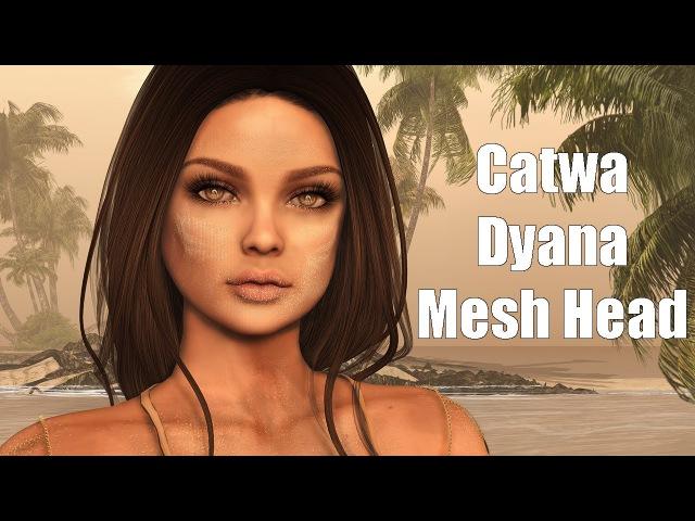 Catwa Dyana Basic Female Mesh Head in Second Life