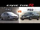 ENG CC Civic Type R FN2 vs FD2 Tsukuba 2010