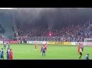 Krawalle beim DFP Pokalspiel: 1.FC Magdeburg Hooligans und Eintracht Frankfurt Hooligans