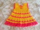 Красивое платье ВЕСНА крючком для девочки 1-2 года. Часть1