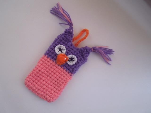 Как связать чехол для телефона, планшета крючком? Игрушка сова. How to crochet phone case.