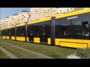 The world's longest tramcar in Budapest Weltweit längste Straßenbahn CAF Urbos