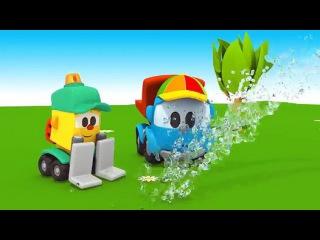 Грузовочик Лева Малым и Машина для мороженого. Мультик 3D.Мультфильмы для детей про машинки