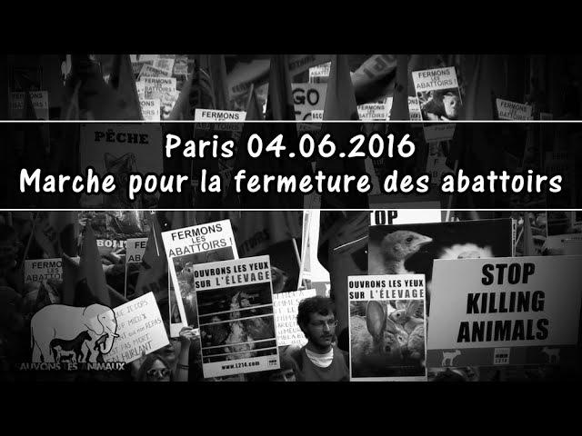 Марш за закрытие скотобоен. Париж (04.06.2016)