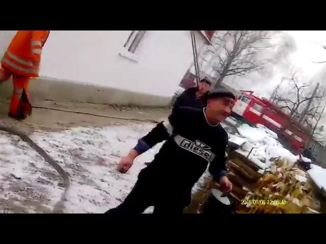 Пожежа, смт. Володимирець, вул. Садова. 06.01.2016р.