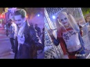 Suicide Squad Characters Meet Greet Cosplay Six Flags Fright Fest Joker Harley Quinn
