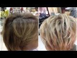 Окрашивание волос Колорирование на русые волосы Color highlights on brown hair
