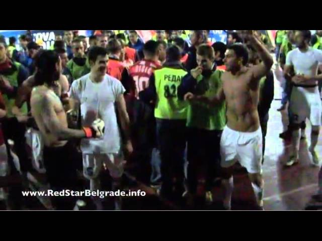 Crvena zvezda - Partizan 2:0 1/2 finale Kupa 2011/12 - slavlje nakon utakmice