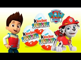 Surprise eggs!!! paw patrol toys   игрушки щенячий патруль киндер сюрприз и другие мультики!!! марус