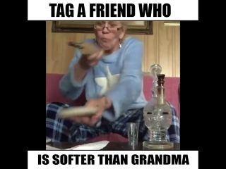 This grandma Goes Super Hard