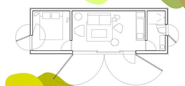 Мобильный дом-студия 27 м.