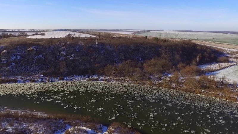 Галичья гора, осенний ледоход на Дону 22.11.2016