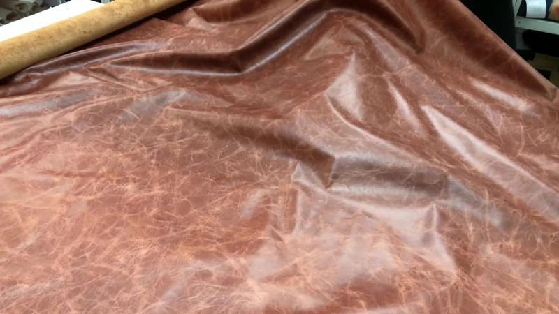 КРС с эффектом Pull up, 1,0 мм, TUSCANIA, цвет COGNAC, MASTROTTO, Италия