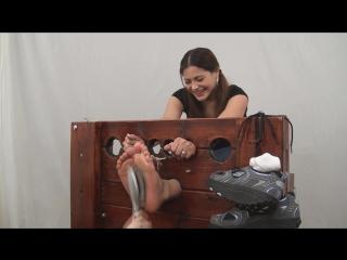 WayTooTicklish - Vivian Ireene Pierce Tickled in the Stocks Bare Feet